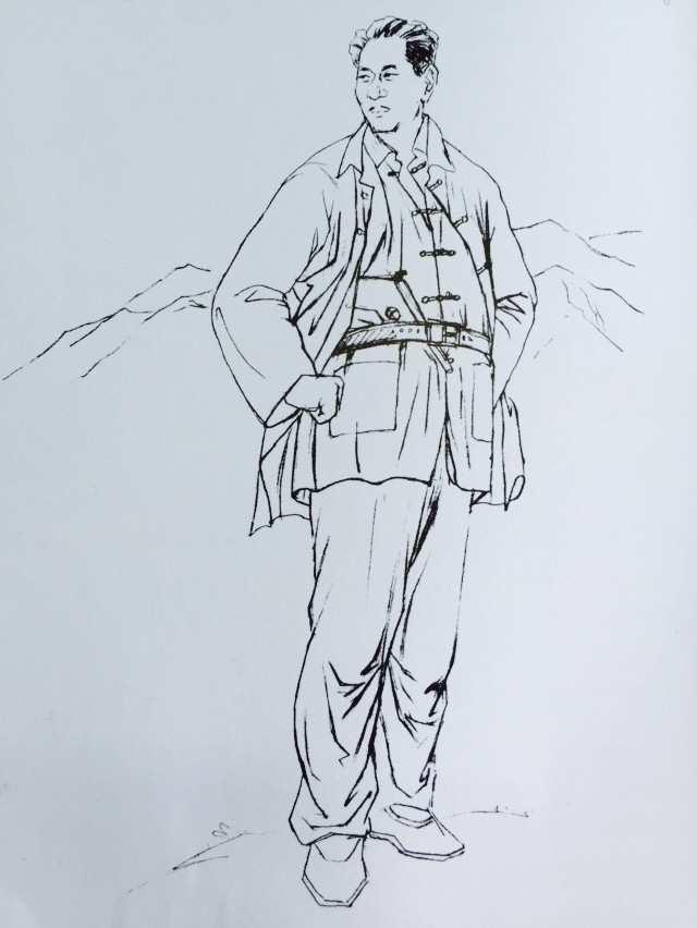 抗战人物手绘图片