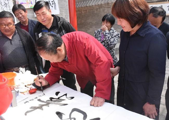 大辛庄镇举行书香村镇美丽大辛庄—走进苗木花卉之乡书画笔会