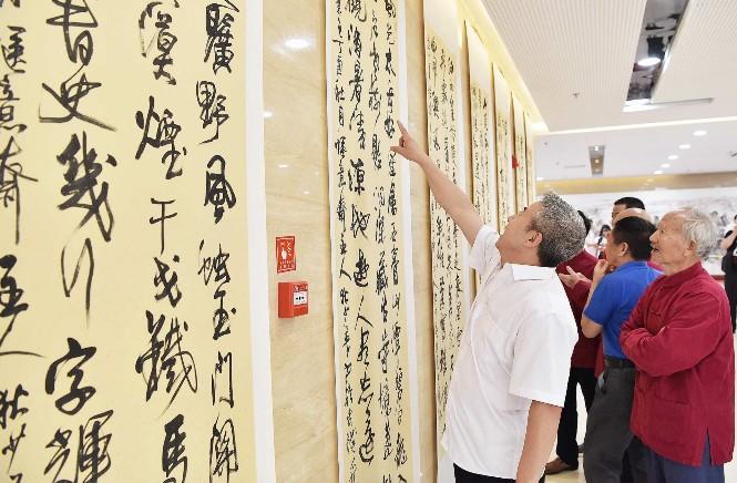 """博物馆举办庆祝新中国成立70周年书画作品展和狄少英""""心系家乡""""国画书法艺术作品汇报展"""
