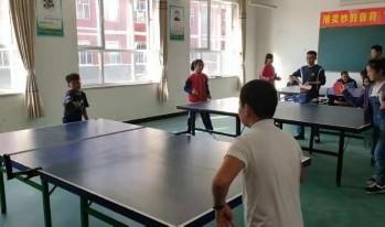 砖路镇中心校在潘村小学举行第六届体育节暨乒乓球比赛