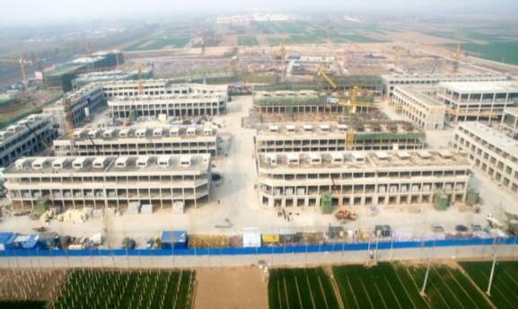 中国供销华北农副产品交易中心一期项目正在加紧建设