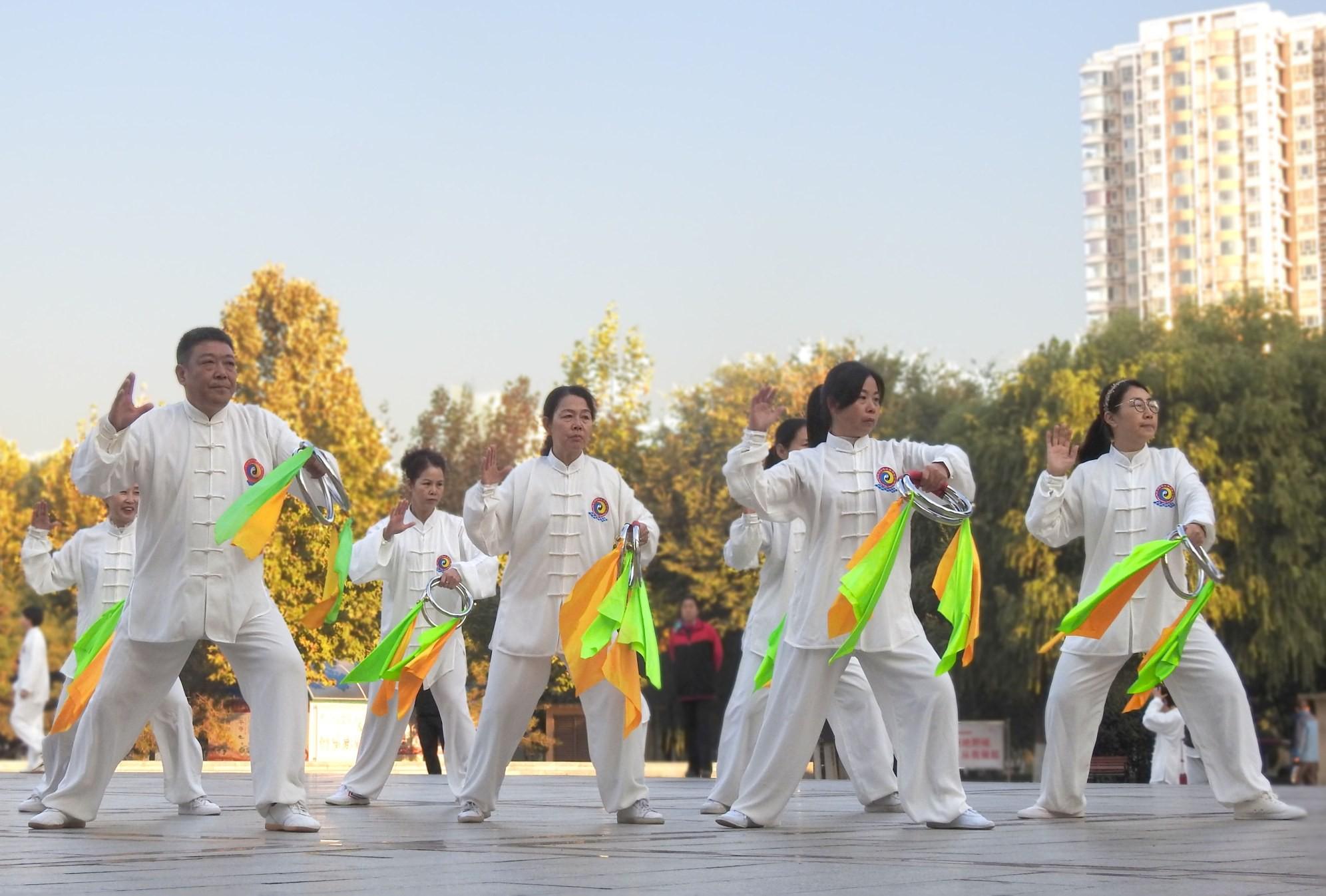 2020重阳节全民健身技能展示会在中山公园拉开帷幕