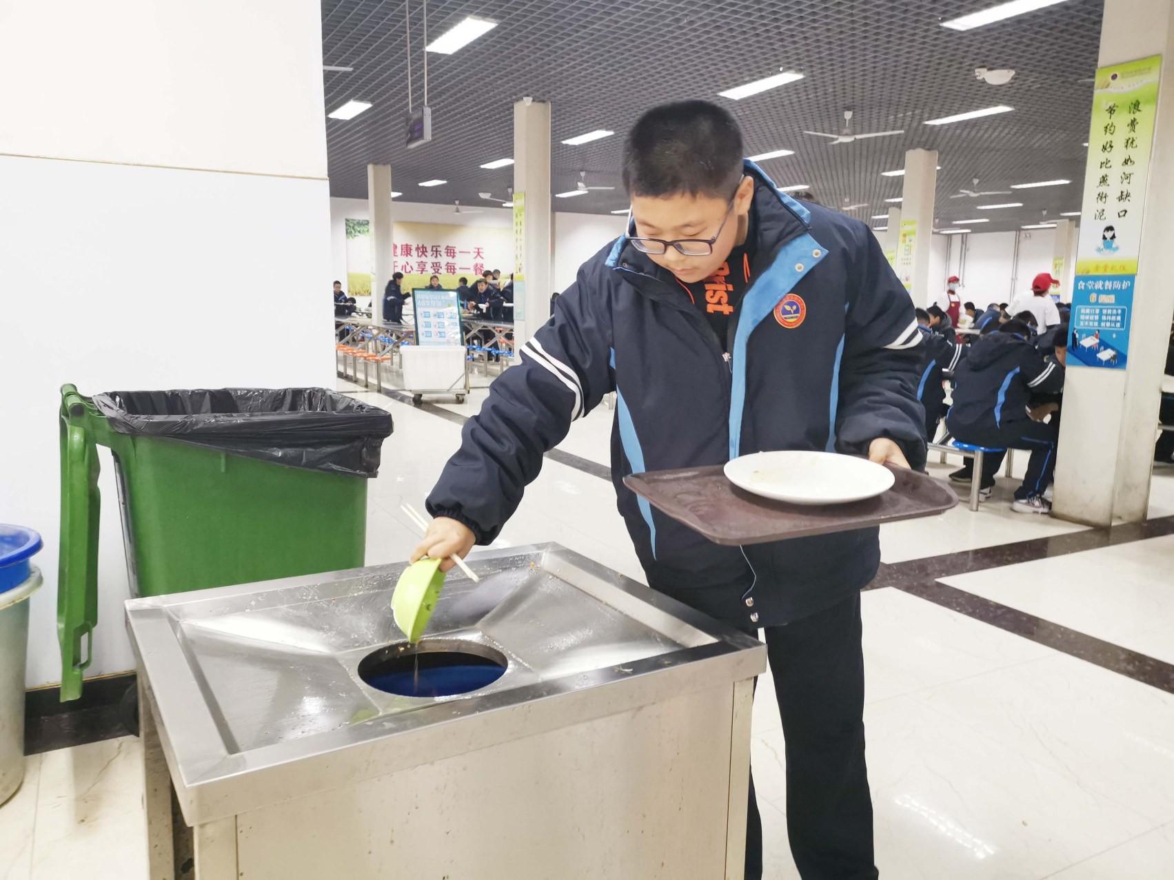 """市实验中学: 师生共唱""""节粮""""主旋律"""