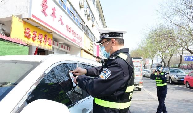 市公安局交通管理大队开展城区停车秩序治理统一行动